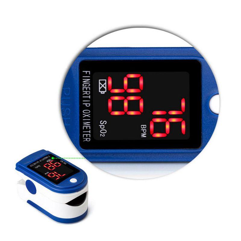 Oxímetro Digital Medidor de Saturação de Oxigênio no Sangue  - Thata Esportes