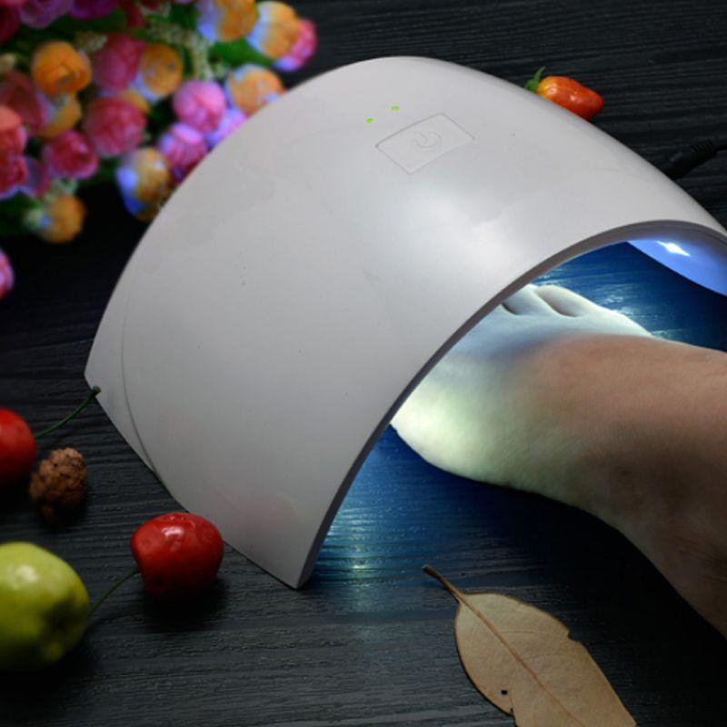 Secador de Unhas 18 LEDs UV Para Unhas Gel e Fibra  - Thata Esportes