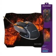 Mouse e Mouse Pad Combo Multilaser MO 256
