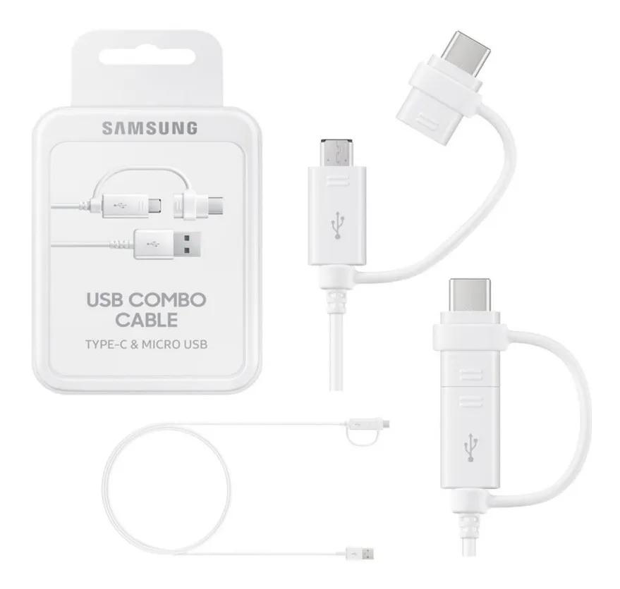 Cabo Samsung Micro Usb Com Adaptador Tipo C Original EP=DG930DWPGBR