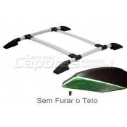 Bagageiro de teto tubular cor prata SEM FURAR p/ L200 Triton - Casa das capotas