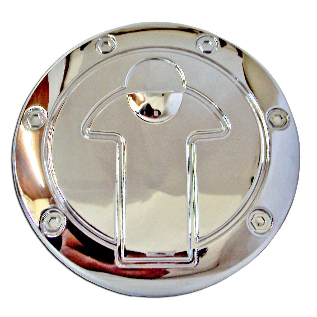 Aplique cromado da tampa do combustível L200 Triton 2008 a 2017