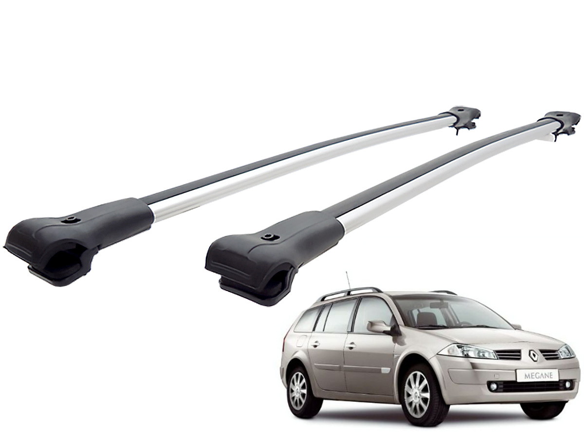 Travessa rack de teto larga alum�nio Megane Grand Tour 2007 a 2013