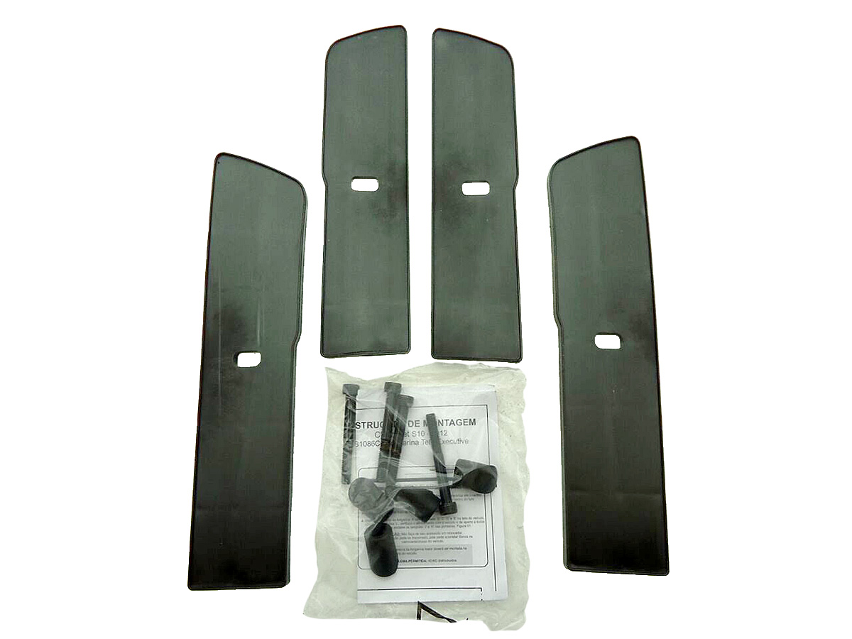 Longarina rack de teto alumínio Nova S10 cabine dupla 2012 a 2017