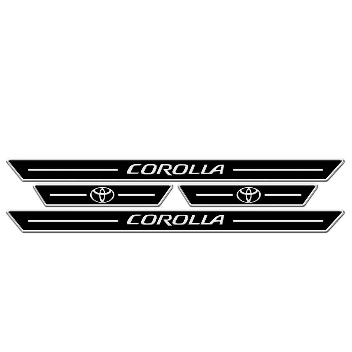 Protetor de soleira personalizado Corolla 2009 a 2014 ou Corolla 2015 a 2017