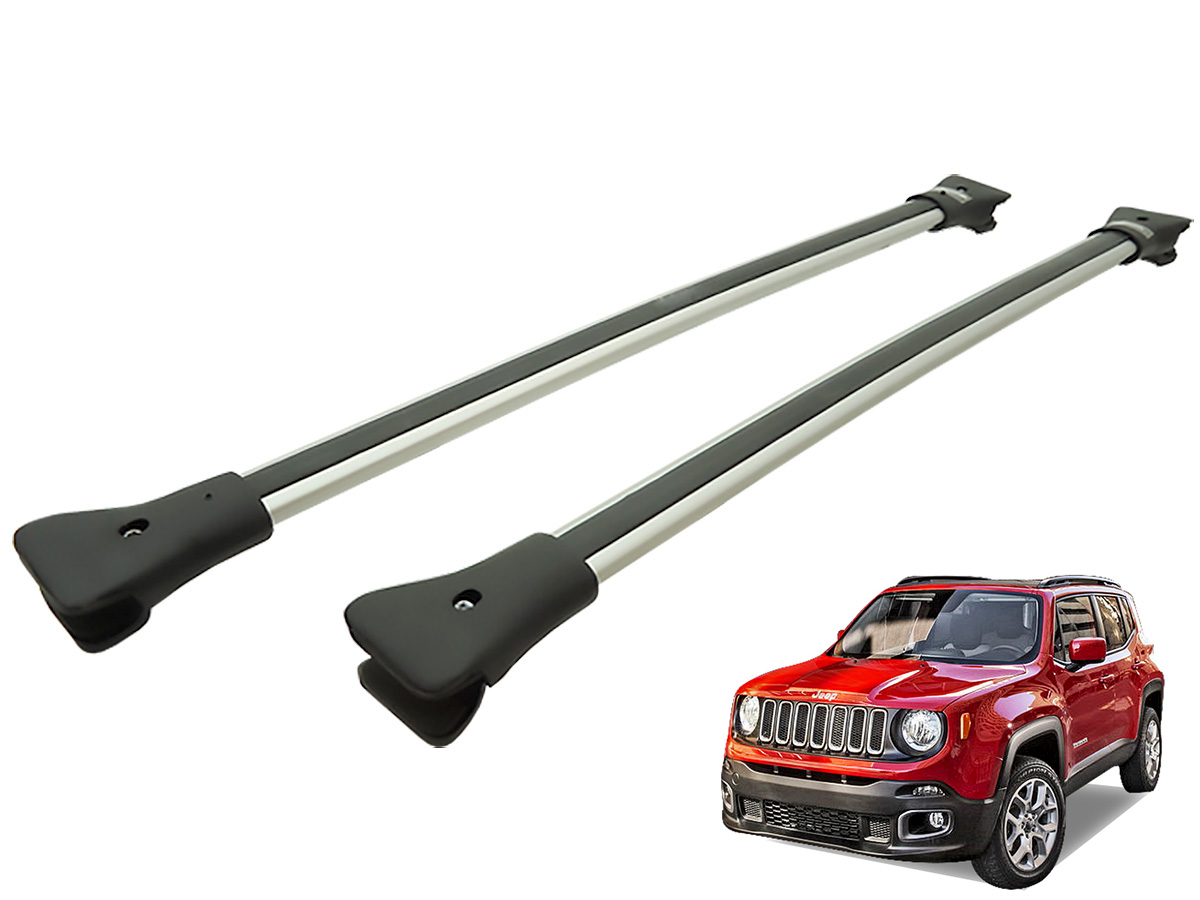 Travessa rack de teto larga alum�nio Jeep Renegade 2016 2017