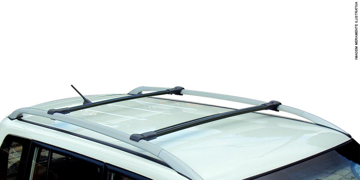 Travessa rack de teto larga preta alum�nio Jeep Renegade 2016 2017
