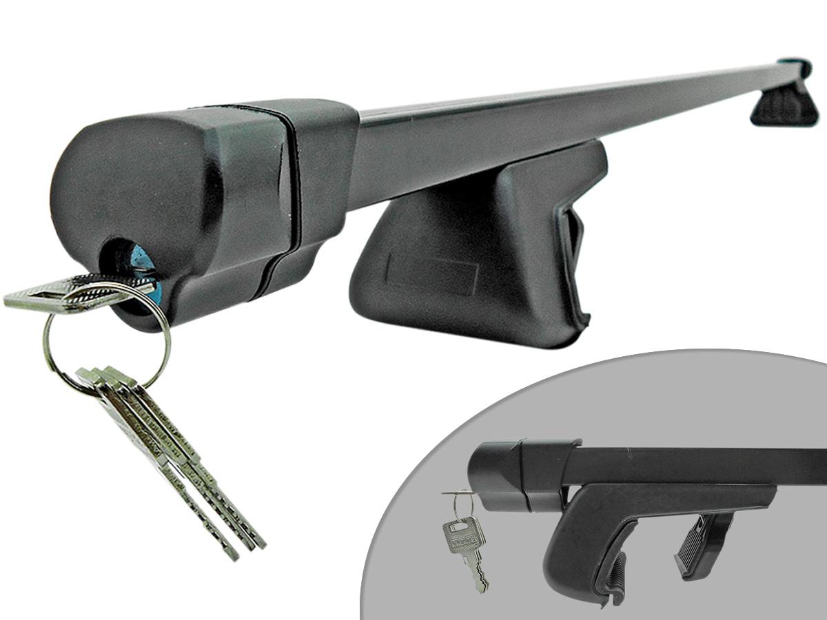 Travessa rack de teto preta com chave Tiggo 2009 a 2015