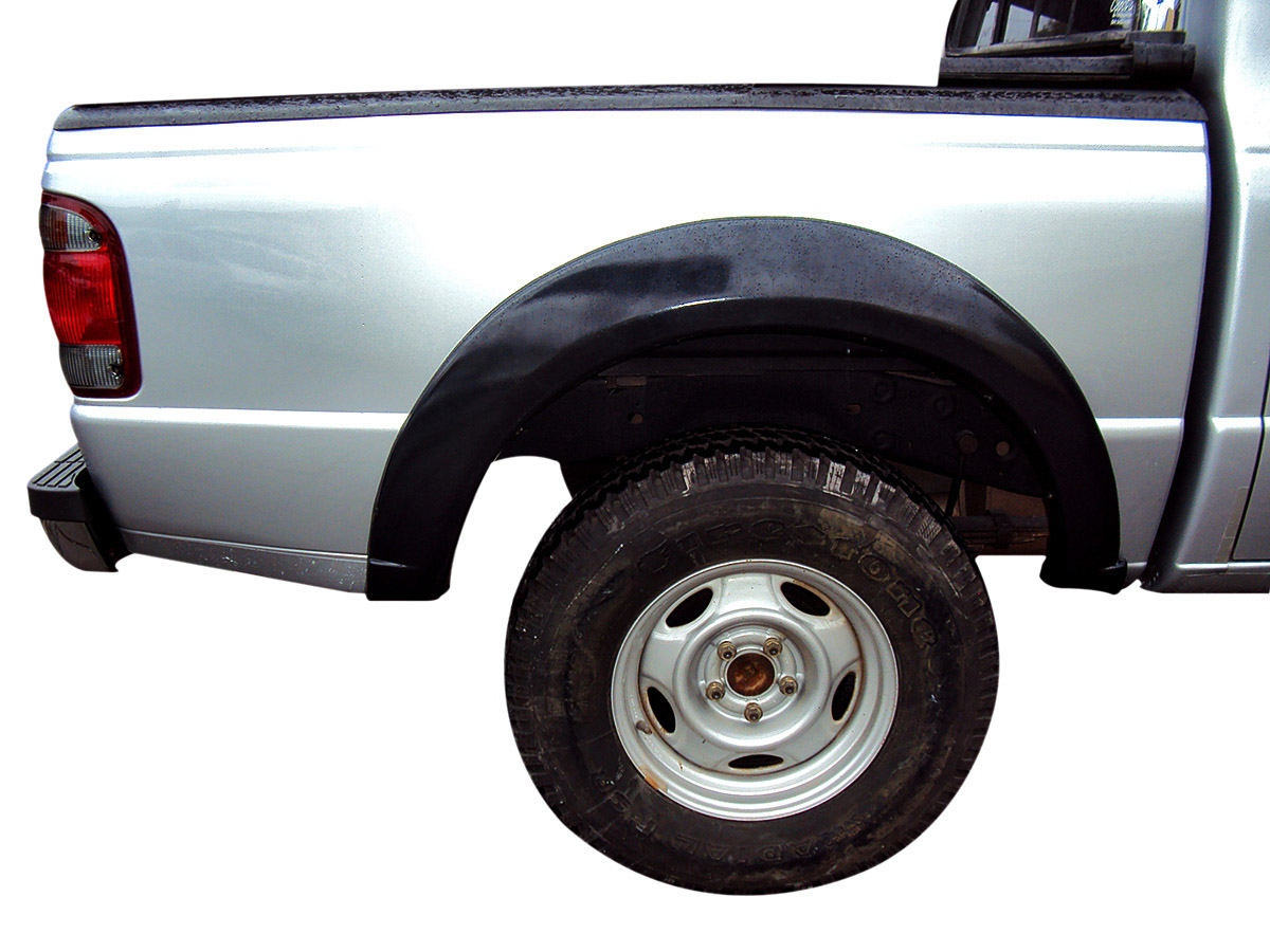 Alargador de paralama modelo largo Ranger cabine dupla 1994 a 2012