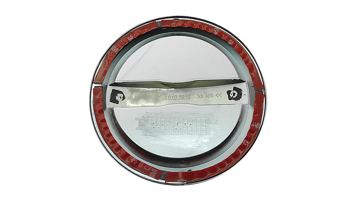 Aplique cromado da tampa do combust�vel IX35 2011 a 2017