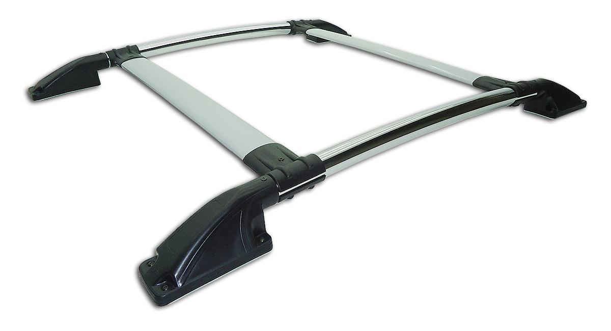 Bagageiro de teto tubular cromado sem furar L200 Sport 2004 a 2007 ou L200 Outdoor 2007 a 2012