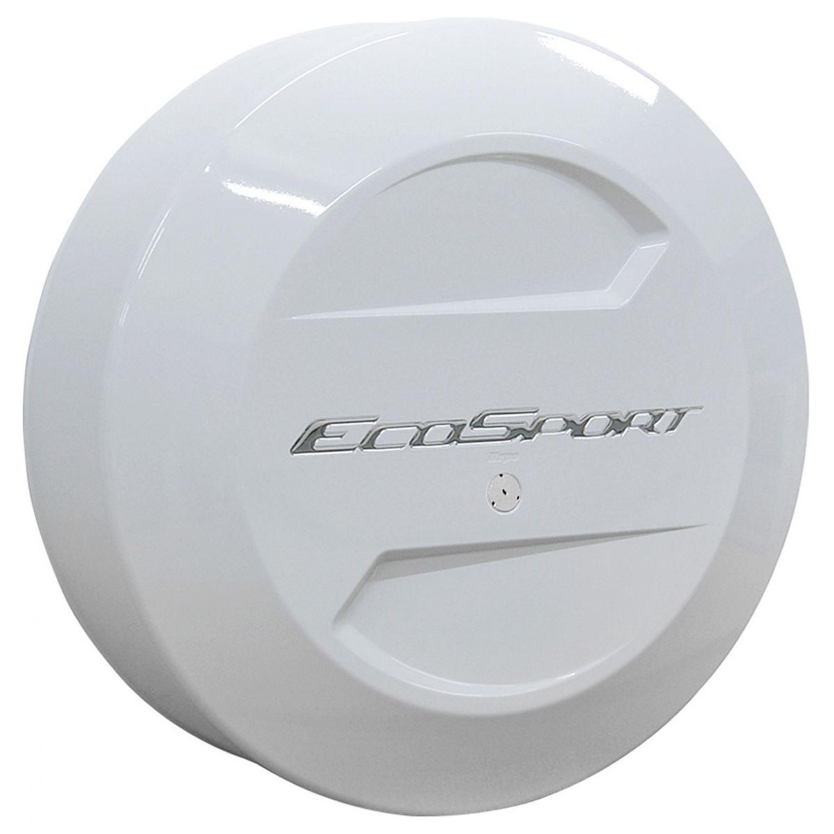 Capa de estepe r�gida Ecosport 2003 a 2017 cor Branco �rtico