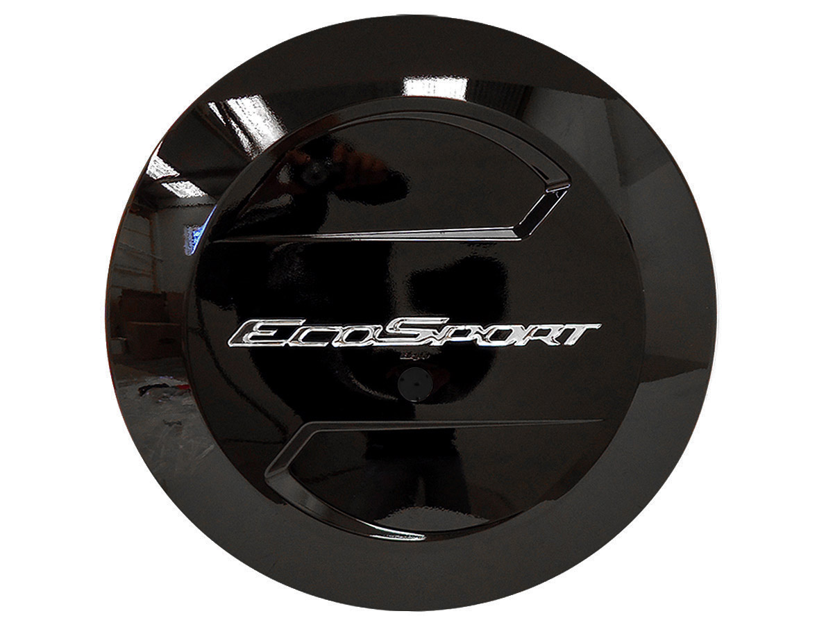 Capa de estepe rígida Ecosport 2003 a 2017 cor Preto Ebony