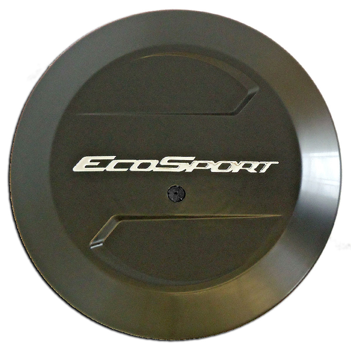 Capa de estepe rígida Ecosport 2003 a 2017 plástico ABS preto