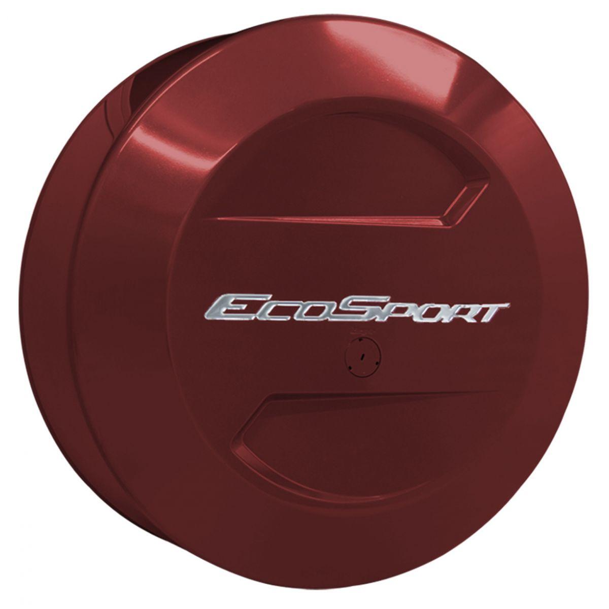 Capa de estepe rígida Novo Ecosport 2015 a 2017 cor Vermelho Merlot