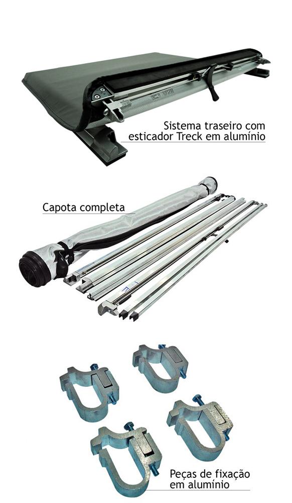 Capota mar�tima slim force L200 Sport 2004 a 2007 ou L200 Outdoor 2007 a 2012