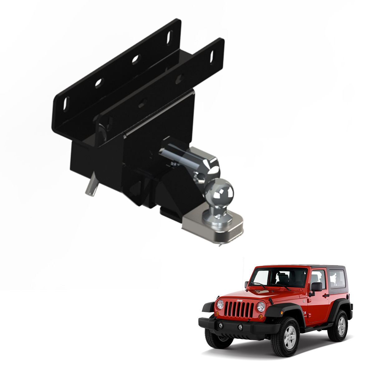 Engate de reboque Jeep Wrangler 2007 a 2016 remov�vel 1500 Kg