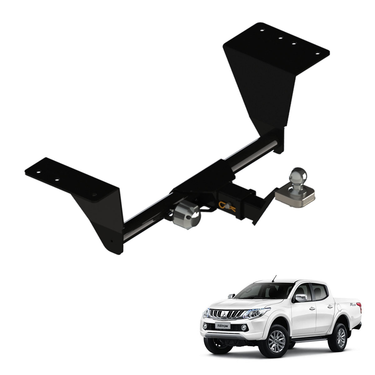 Engate de reboque Nova L200 Triton Sport 2017 removível 1500 Kg