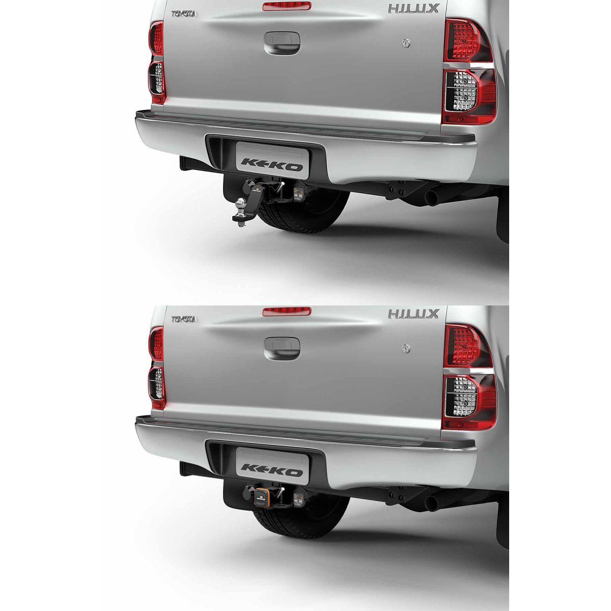 Engate de reboque Hilux 2005 a 2015 Keko K1 removível 1500 kg