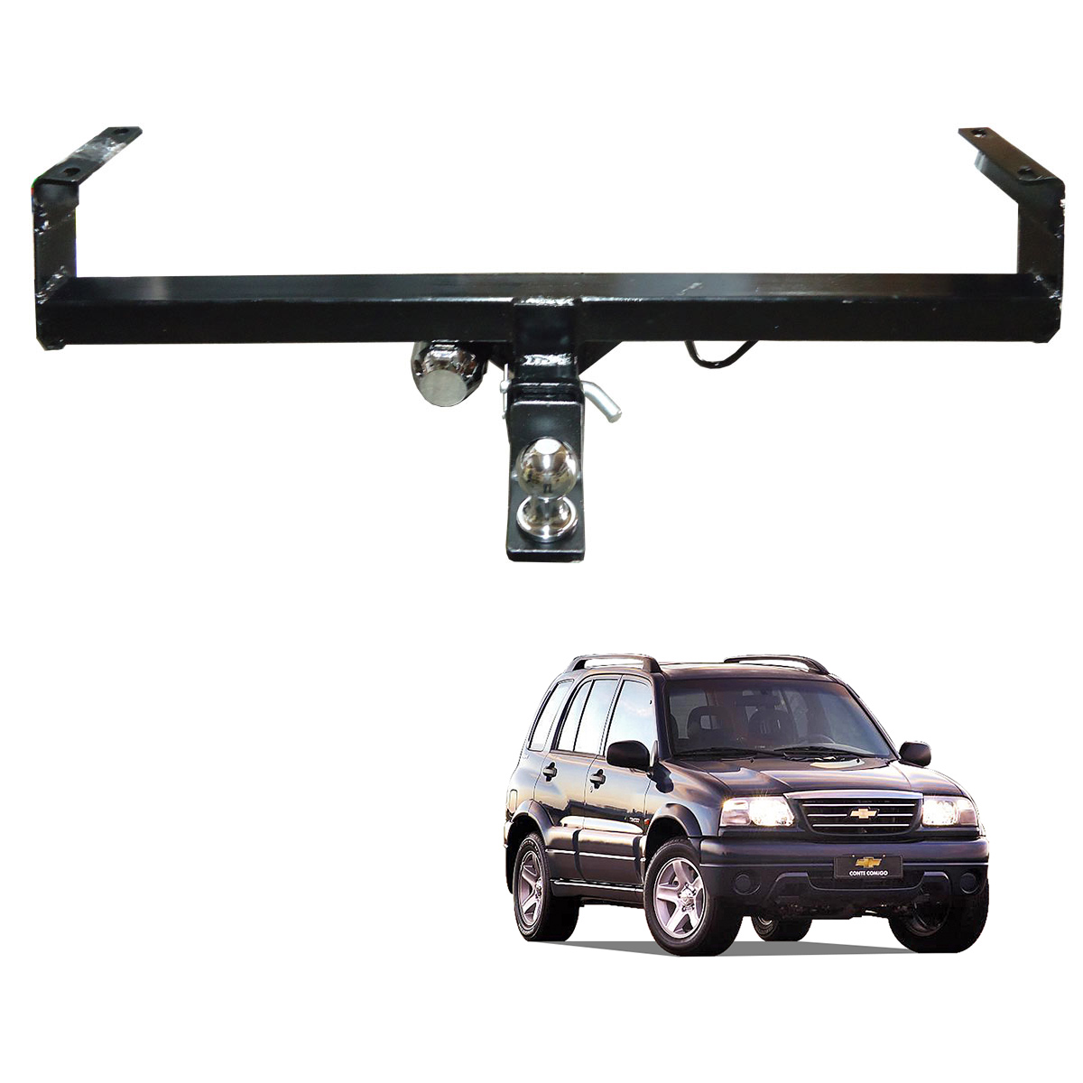 Engate de reboque Tracker 1999 a 2009 removível 1000 Kg