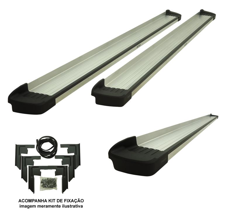 Estribo Bepo G3 alumínio Amarok cabine dupla 2011 a 2017