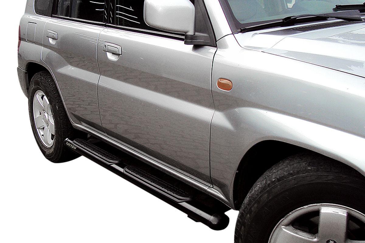 Estribo oval preto L200 Triton 2008 a 2017