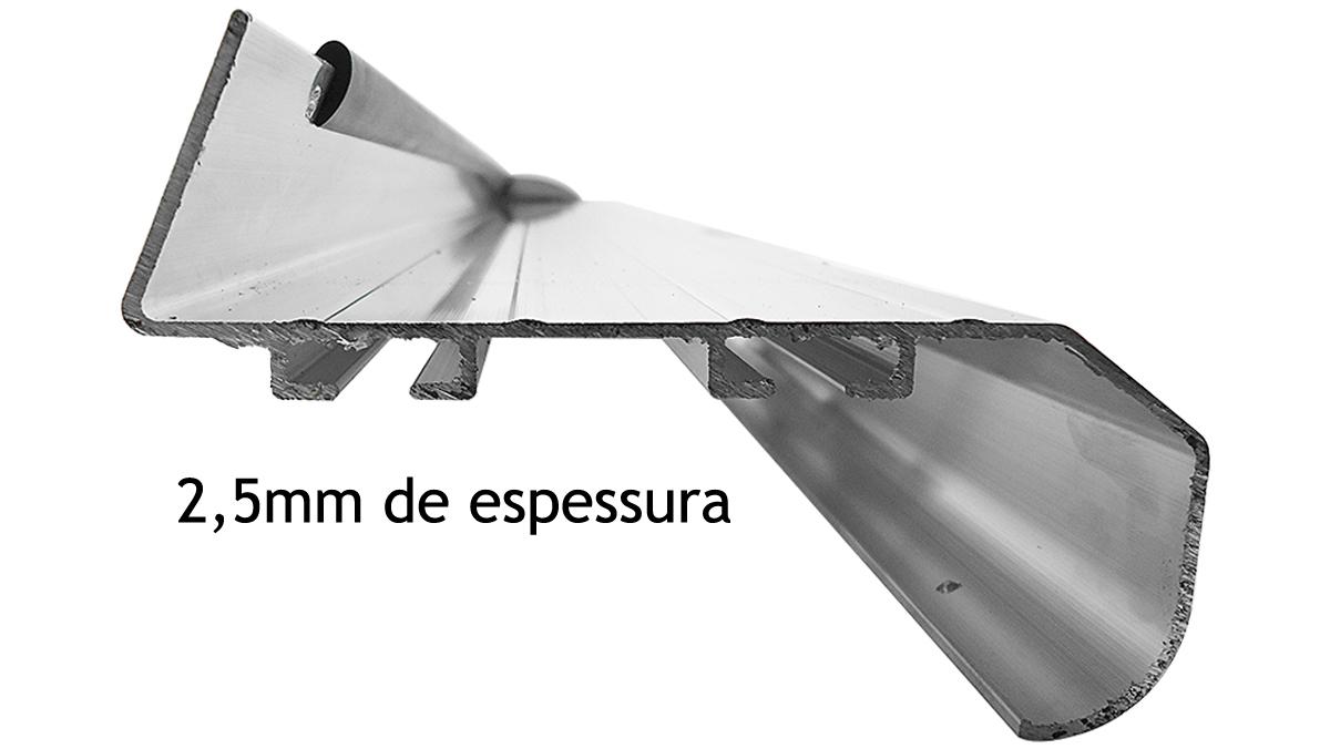 Estribo plataforma alumínio preto S10 cabine dupla 1997 a 2011