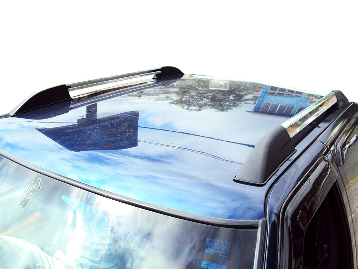 Longarina rack de teto aluminio S10 cabine dupla 1997 a 2011 semelhante original executive