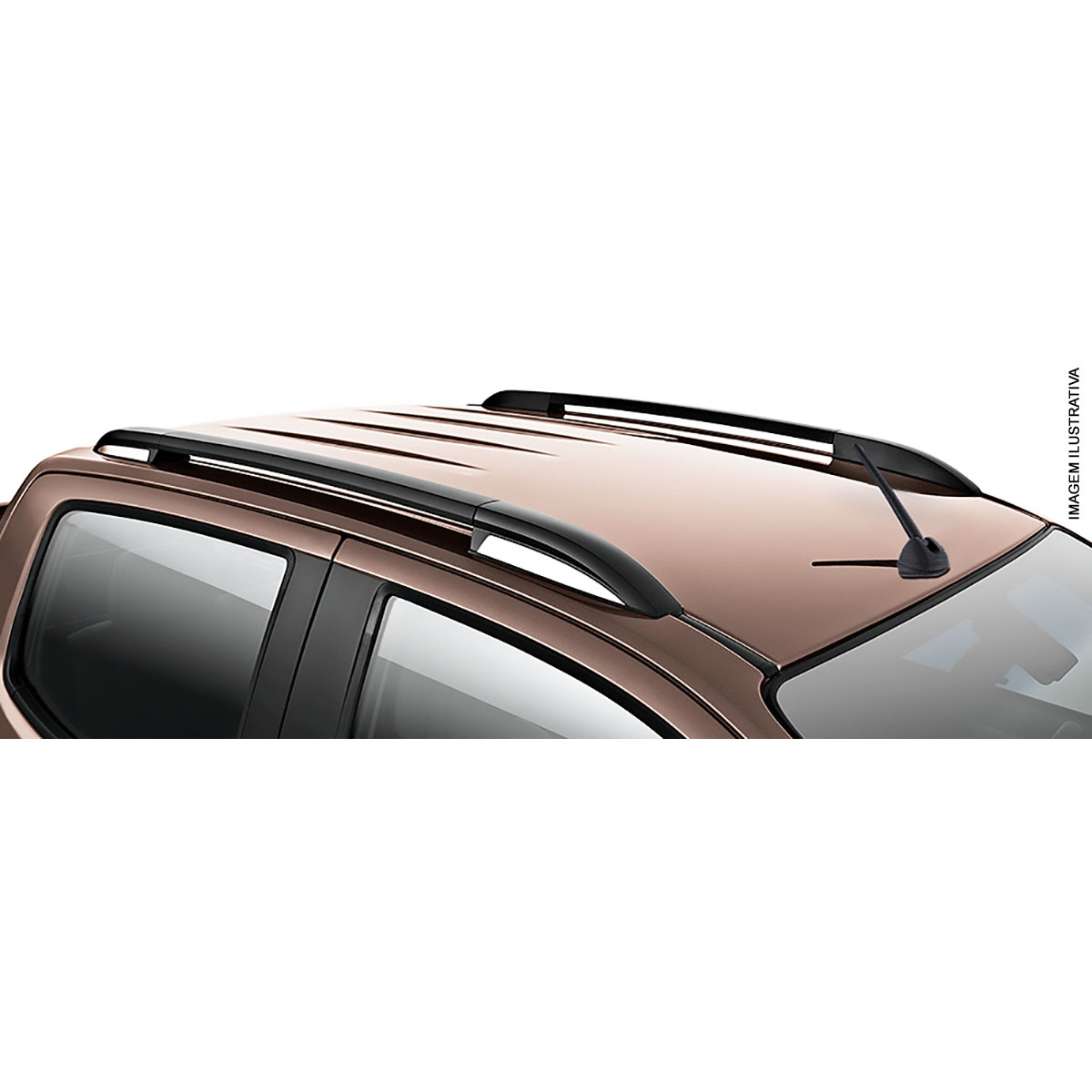 Longarina rack de teto Nova S10 cabine dupla 2012 a 2017 semelhante original