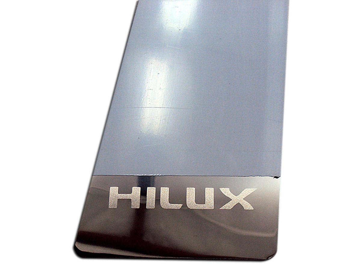 Protetor de coluna de porta inox Hilux 2005 a 2015