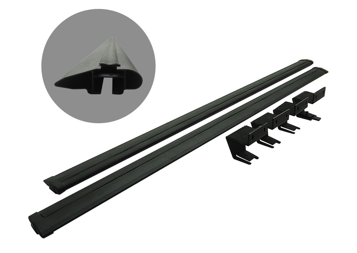 Rack de caçamba em alumínio preto L200 Sport 2004 a 2007 ou L200 Outdoor 2007 a 2012