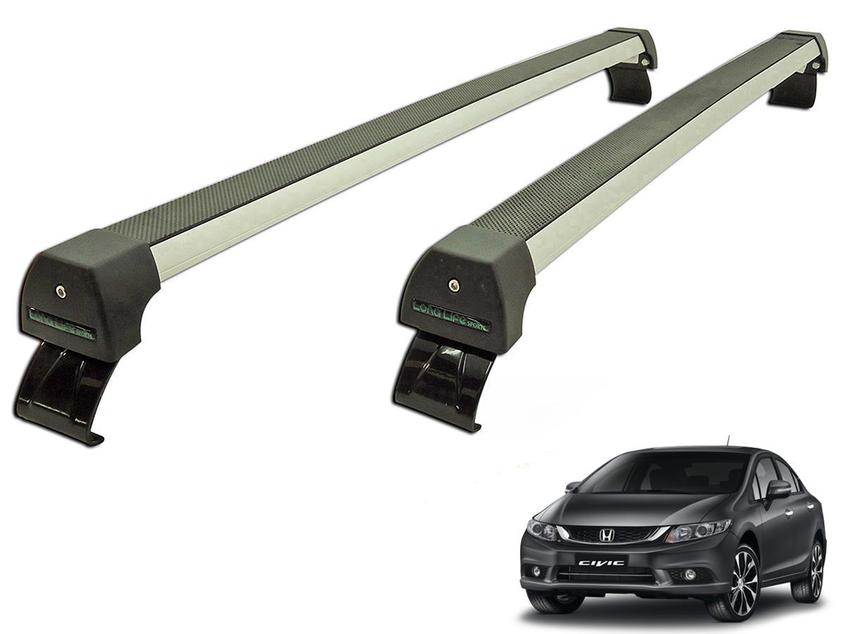 Rack de teto Civic 2015 e 2016 Long Life Sports anodizado