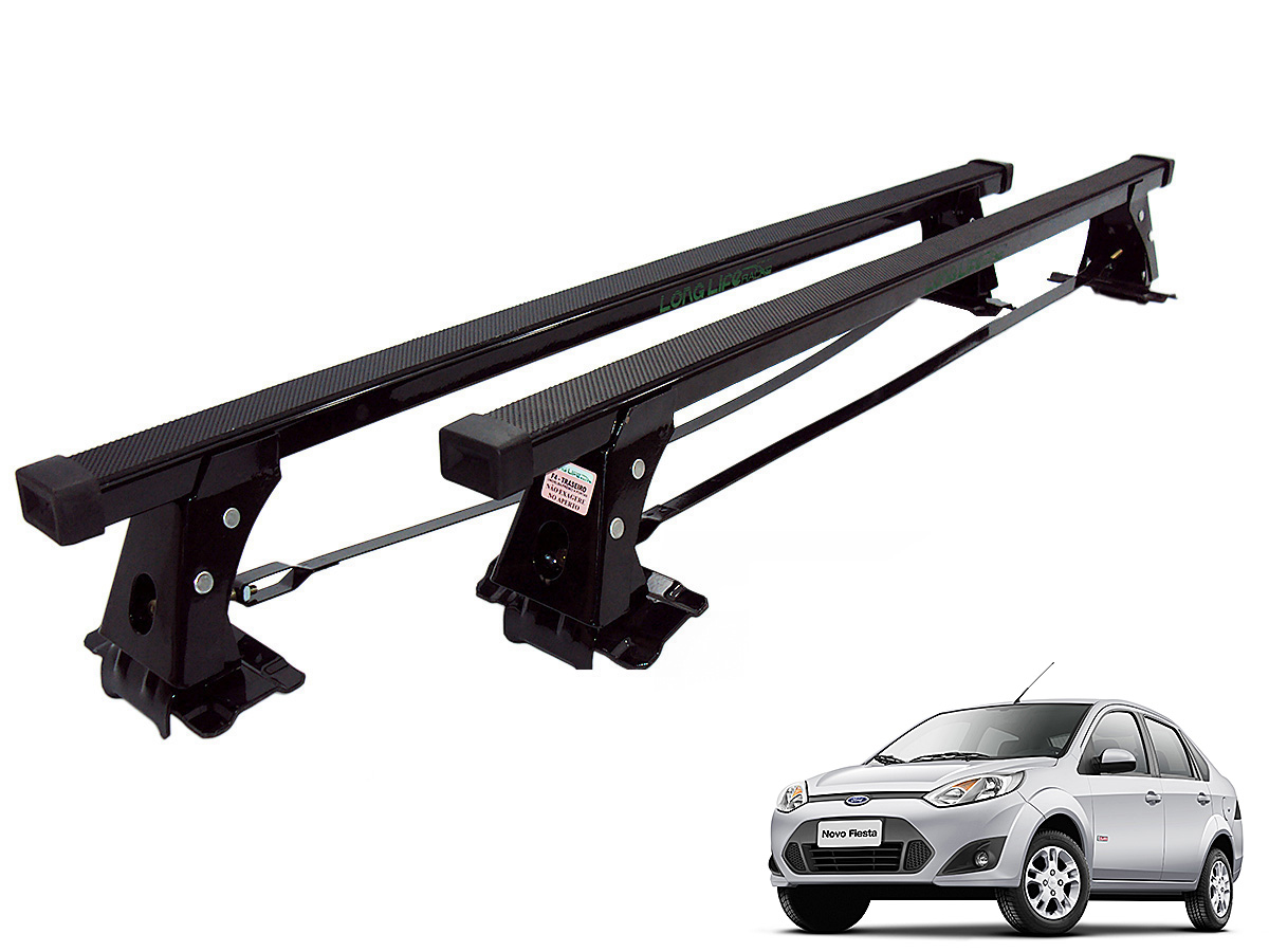 Rack de teto Fiesta Hatch ou Sedan 2003 a 2014 Long Life a�o