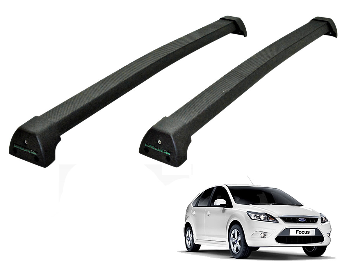 Rack de teto Focus 2009 a 2013 Long Life Sports preto