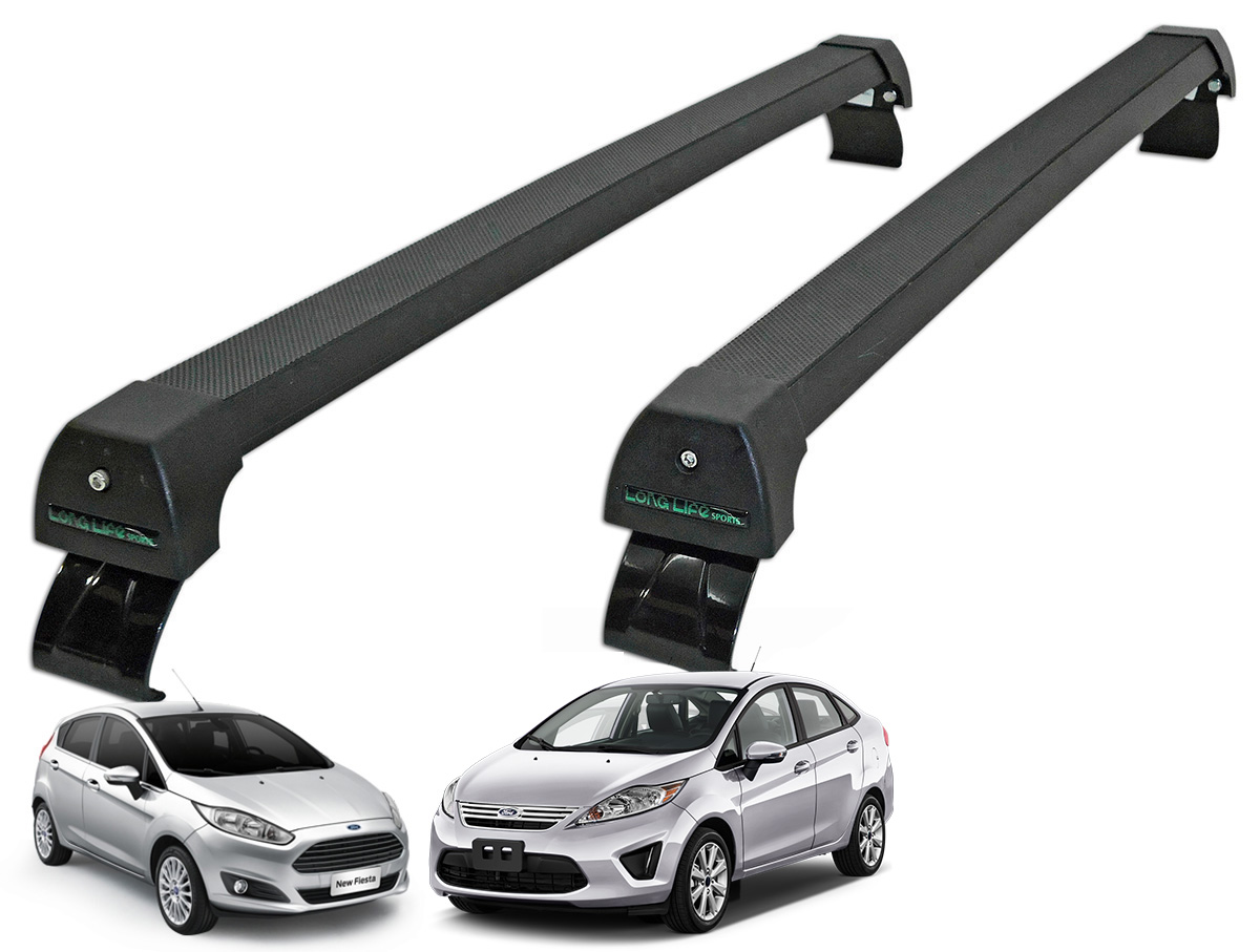 Rack de teto New Fiesta 2011 a 2017 Long Life Sports preto
