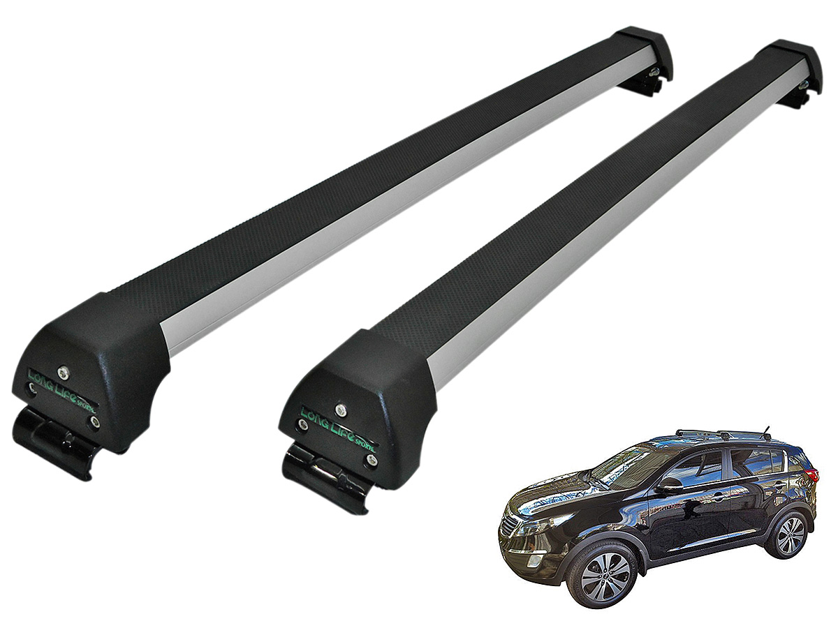 Rack de teto Sportage 2011 a 2016 Long Life Sports anodizado