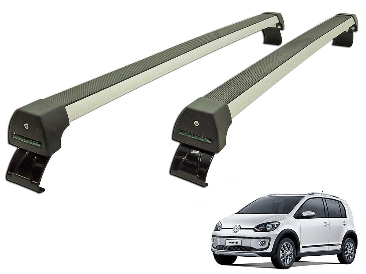 Rack de teto up! 2 ou 4 portas VW up 2014 a 2017 Long Life Sports anodizado