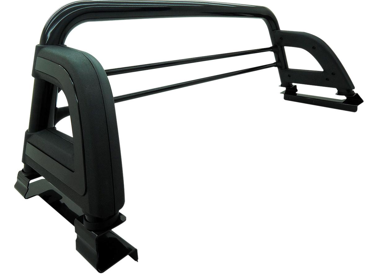 Santo ant�nio preto esportivo Bepo Hilux 2005 a 2015 com barras de prote��o de vidro