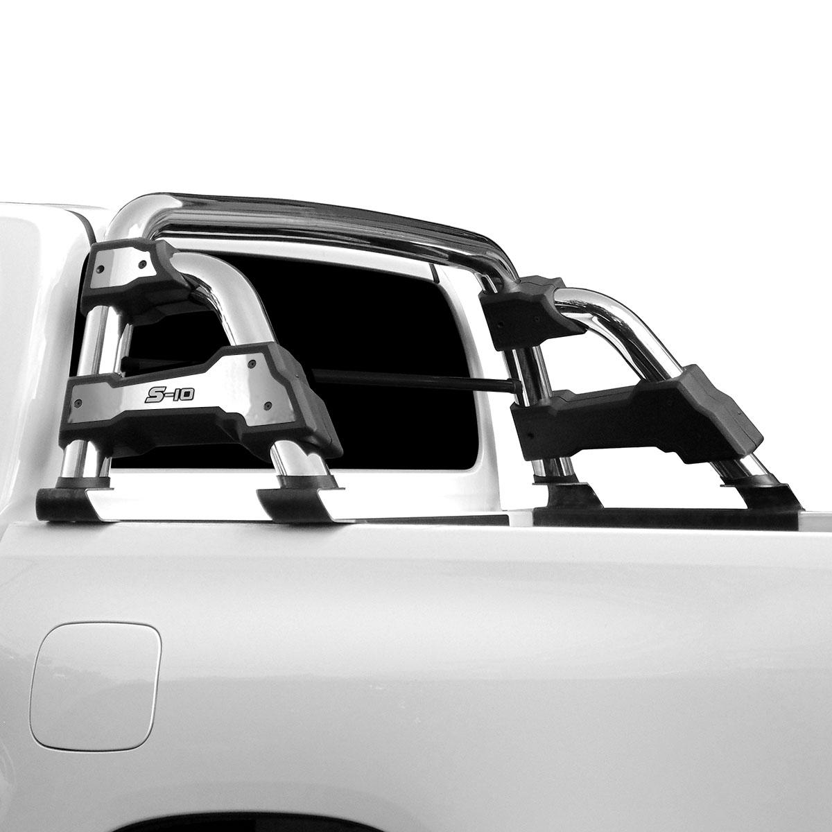 Santo antonio STR cromado Nova S10 cabine dupla 2012 a 2017 com barra