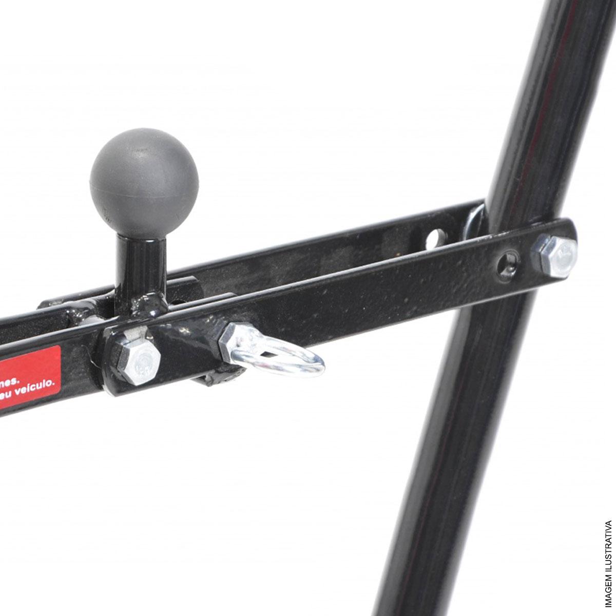 Transbike fixado no engate de reboque uso universal - sistema fixa f�cil, fechamento em V e aplic�vel a bikes aro 29 - p/ 3 bicicletas