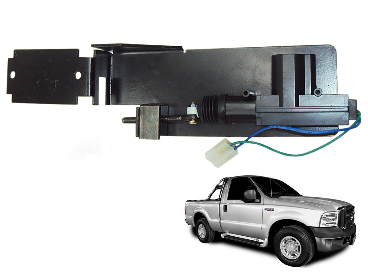 Trava tranca elétrica tampa caçamba F250 1998 a 2011
