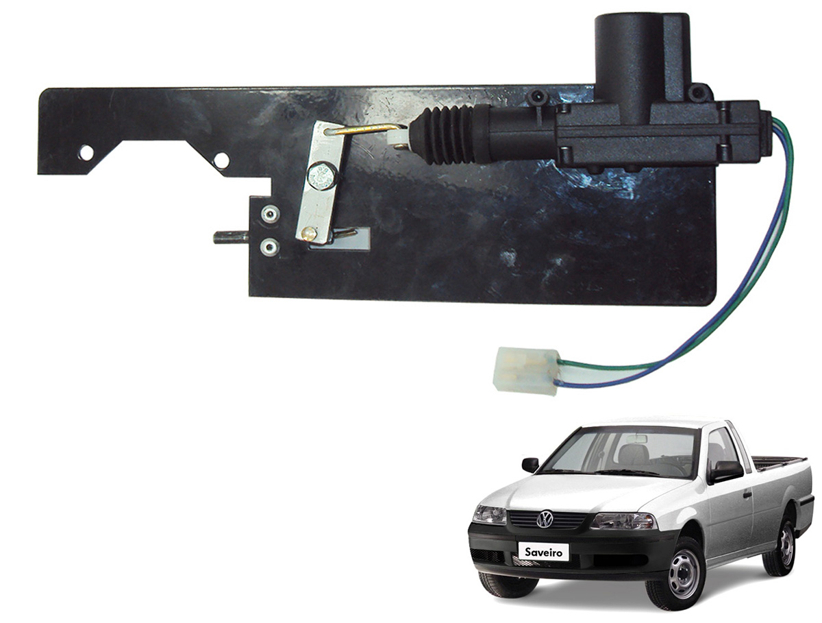 Trava tranca elétrica tampa caçamba Saveiro 2000 a 2009 G3 G4
