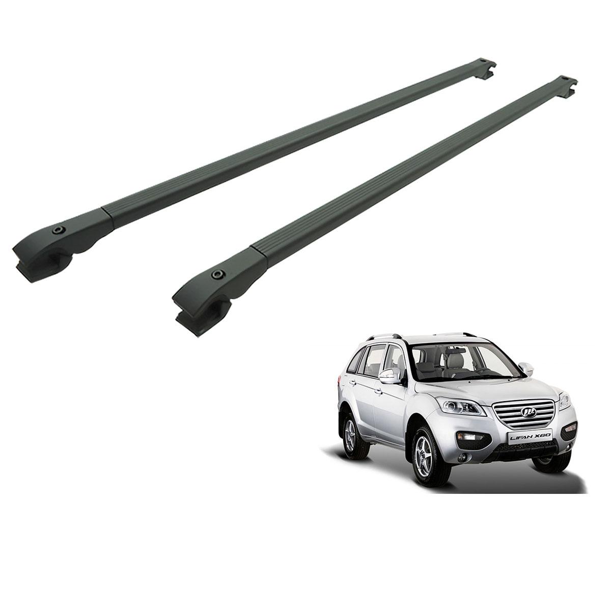 Travessa rack de teto alumínio preta Lifan X60 2013 a 2016