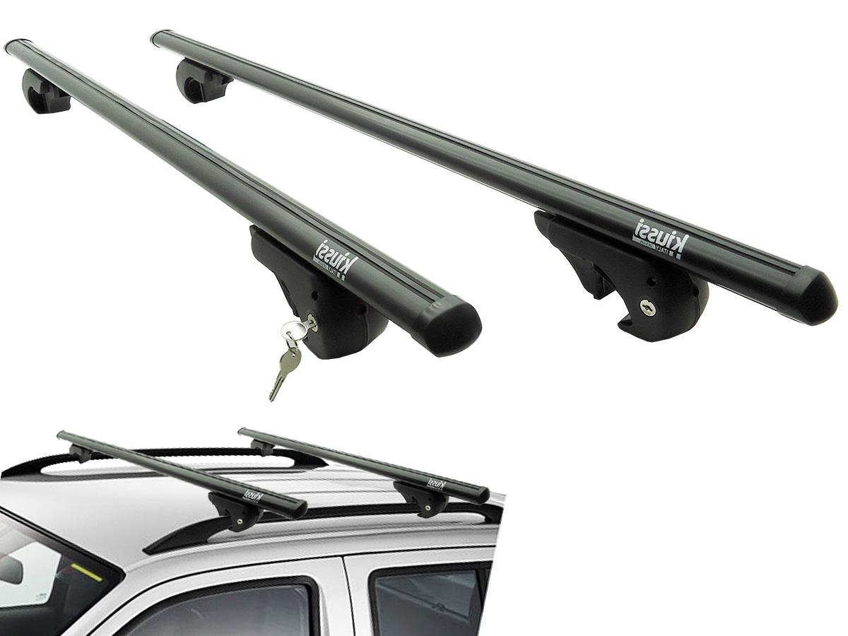 Travessa rack de teto Belluno Kiussi preta com chave IX35 2011 a 2017