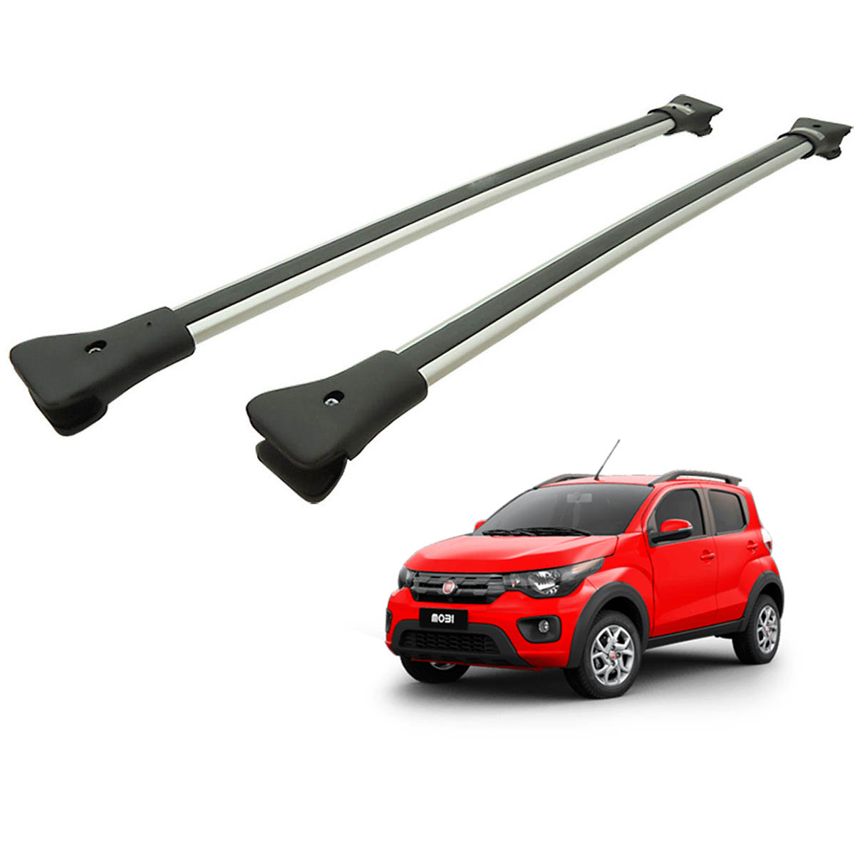 Travessa rack de teto larga alum�nio Fiat Mobi Way 2017