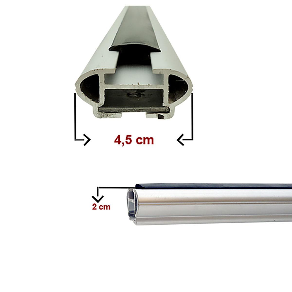 Travessa rack de teto larga alumínio Lifan X60 2013 a 2016
