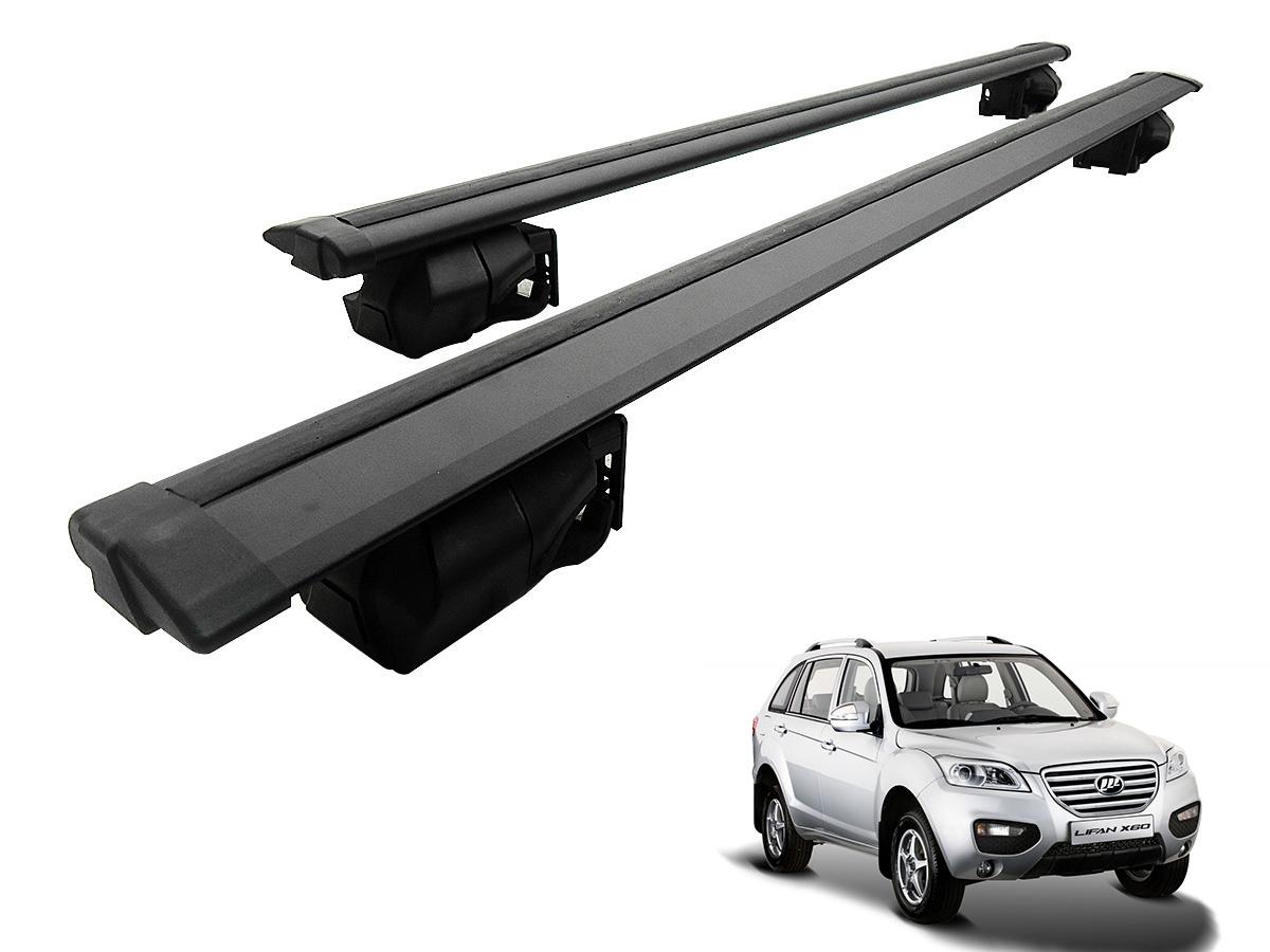 Travessa rack de teto Procargo preta Lifan X60 2013 a 2016 com trava de seguran�a