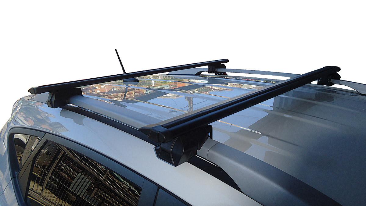 Travessa rack de teto Procargo preta Tracker 1999 a 2009 com trava de seguran�a
