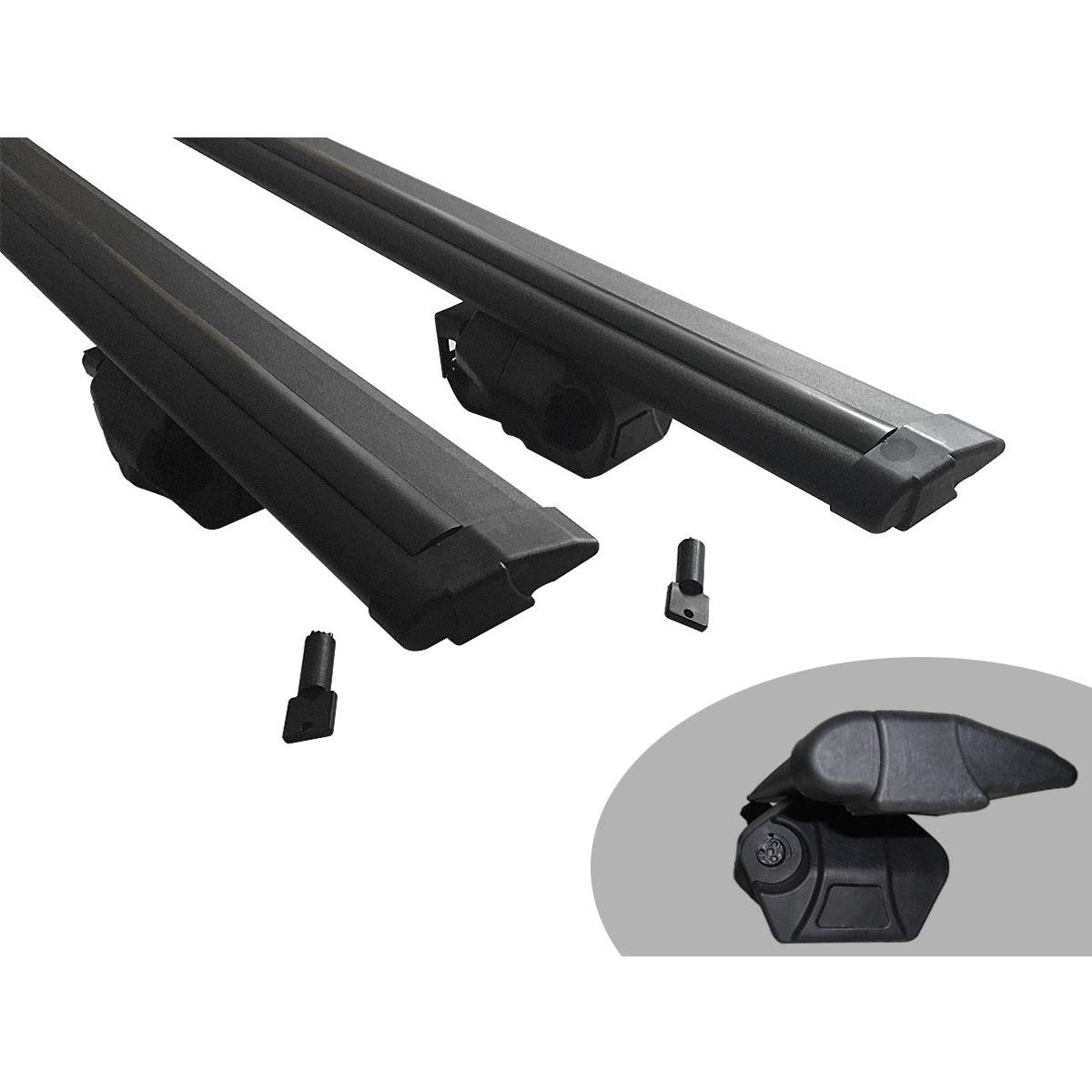 Travessa rack de teto Procargo preta Doblo 2002 a 2017 com trava de segurança