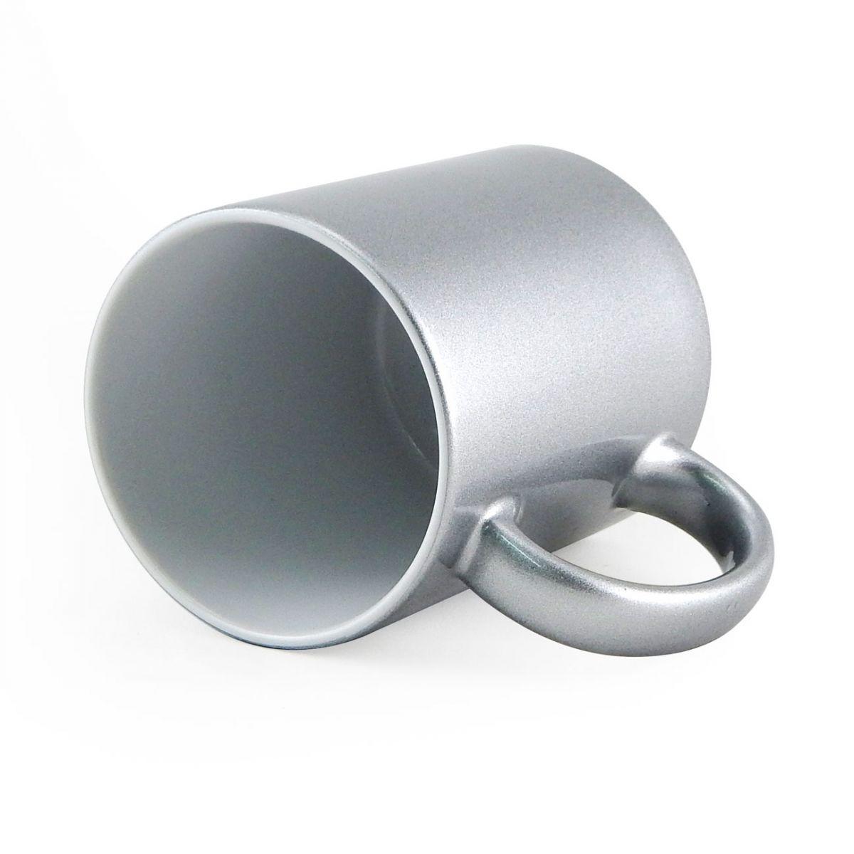 Caneca Metalizada Prata Resinada Para Sublimação em Cerâmica - Classe A  - ALFANETI COMERCIO DE MIDIAS E SUBLIMAÇÃO LTDA-ME